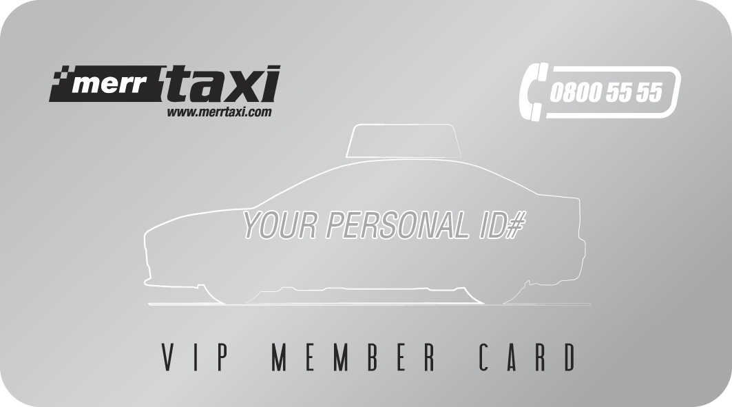 Vip Member Card by Merr Taxi Tirana, front