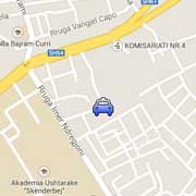 Merr Taxi Tirana Headquaters Location on Map